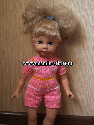 как легко связать на спицах комбинезон для куклы или ребёнка