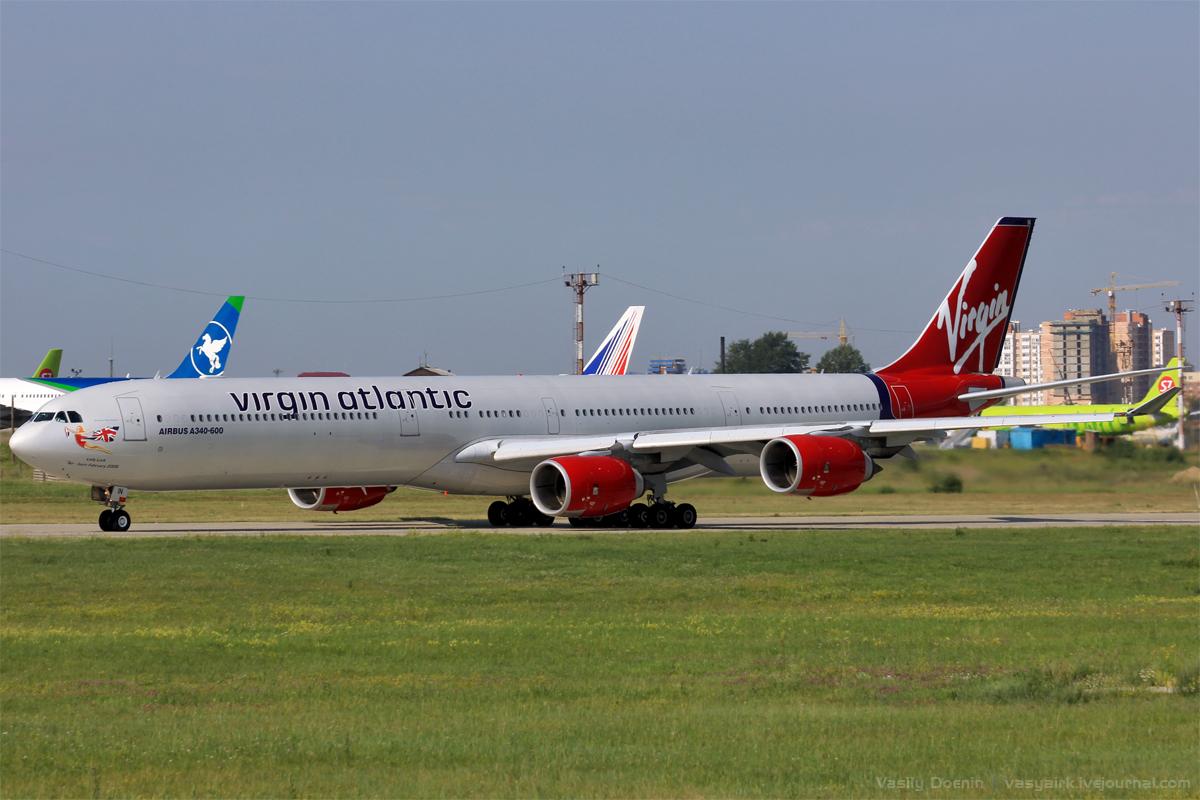 Гигант Airbus A340-600 в Иркутске!