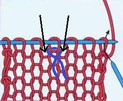 как отметить петлю на вязании реглана