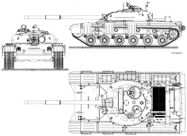 Средний танк «объект 432» имел