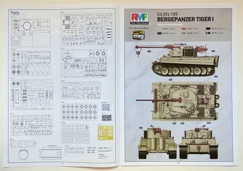 bL81c 1:35 Bergepanzer Tiger I von Rye Field Model RM-5008.