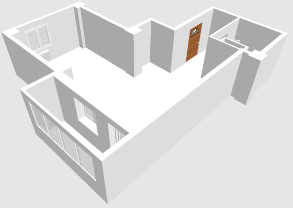 Планировка квартиры в 3D
